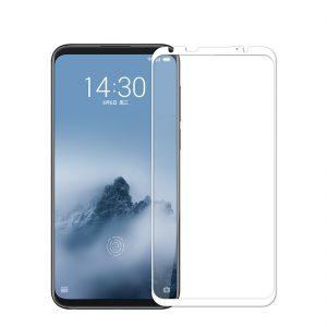 Защитное стекло 3D (5D) Full Glue Armor Glass на весь экран для Meizu 16 – White