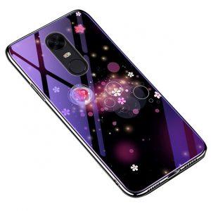 TPU+Glass чехол Fantasy с глянцевыми торцами Xiaomi Redmi 5 Plus (Bubbles with flowers)