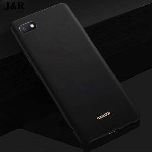 Матовый силиконовый TPU чехол на Xiaomi Redmi 6A (Black)