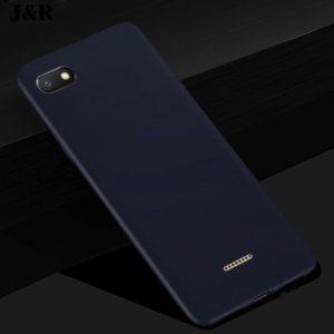 Матовый силиконовый TPU чехол на Xiaomi Redmi 6A (Синий)
