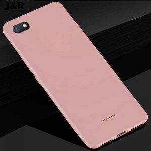 Матовый силиконовый TPU чехол на Xiaomi Redmi 6A (Розовый)
