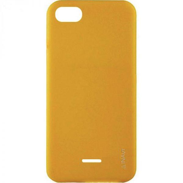 Матовый силиконовый TPU чехол на Xiaomi Redmi 6A (Yellow)