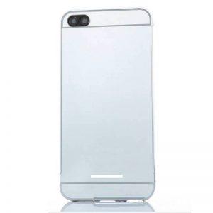 Металлический бампер с акриловой вставкой с зеркальным покрытием для Xiaomi Redmi 6A (Silver)