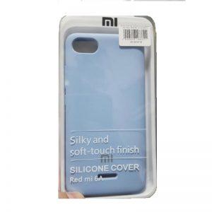 Оригинальный силиконовый чехол (Silicone cover) с покрытием Soft-Touch  для Xiaomi Redmi 6A (Blue)