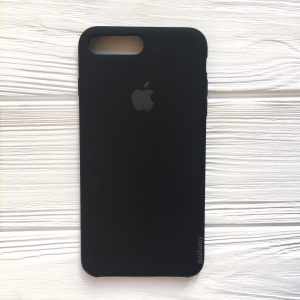 Оригинальный чехол Silicone Case с микрофиброй  для Iphone 7 Plus / 8 Plus №7 (Black)
