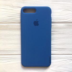 Оригинальный чехол Silicone Case с микрофиброй для Iphone 7 Plus / 8 Plus №12 (Blue)