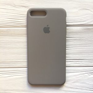 Оригинальный чехол Silicone Case с микрофиброй для Iphone 7 Plus / 8 Plus №32 (Cocoa)