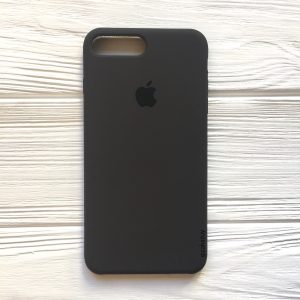Оригинальный чехол Silicone Case с микрофиброй для Iphone 7 Plus / 8 Plus №19 (Dark Brown)
