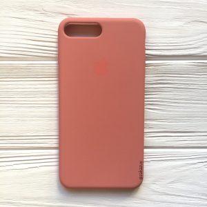 Оригинальный чехол Silicone Case с микрофиброй для Iphone 7 Plus / 8 Plus №25 (Flamingo)