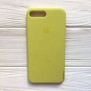 Оригинальный чехол Silicone Case с микрофиброй для Iphone 7 Plus / 8 Plus №38 (Flash)