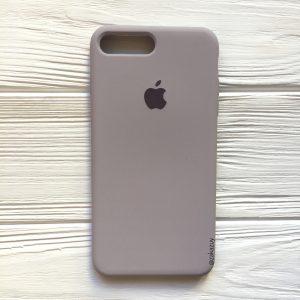 Оригинальный чехол Silicone Case с микрофиброй для Iphone 7 Plus / 8 Plus №34 (Lavender)