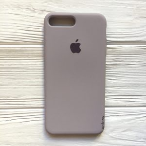 Оригинальный чехол Silicone Case с микрофиброй для Iphone 7 Plus / 8 Plus №34 (Lavender)