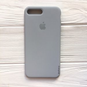 Оригинальный чехол Silicone Case с микрофиброй для Iphone 7 Plus / 8 Plus №33 (Light Blue)