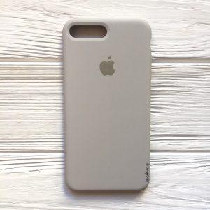 Оригинальный чехол Silicone Case с микрофиброй для Iphone 7 Plus / 8 Plus №16 (Light cocoa)