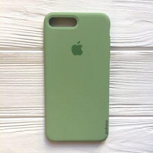 Оригинальный чехол Silicone Case с микрофиброй для Iphone 7 Plus / 8 Plus (Light Green) №10
