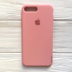 Оригинальный чехол Silicone Case с микрофиброй для Iphone 7 Plus / 8 Plus №14 (Light pink)