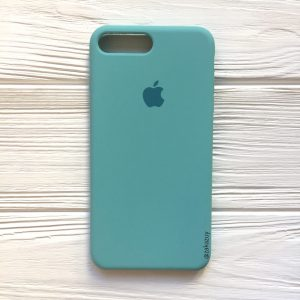 Оригинальный чехол Silicone Case с микрофиброй для Iphone 7 Plus / 8 Plus №23 (Mint)