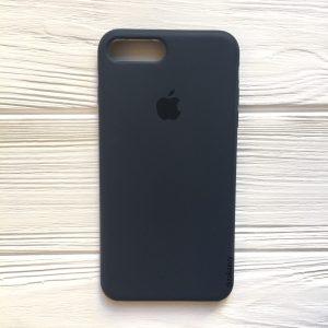 Оригинальный чехол Silicone Case с микрофиброй для Iphone 7 Plus / 8 Plus №9 (Navy Blue)