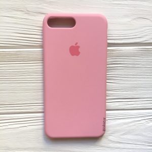 Оригинальный чехол Silicone Case с микрофиброй для Iphone 7 Plus / 8 Plus №35 (Pink)