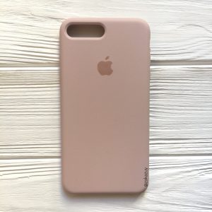 Оригинальный чехол Silicone Case с микрофиброй для Iphone 7 Plus / 8 Plus №8 (Powder)