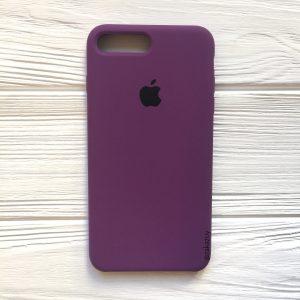 Оригинальный чехол Silicone Case с микрофиброй для Iphone 7 Plus / 8 Plus №28 (Purple)