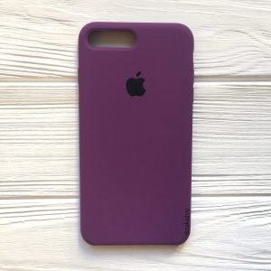 Оригинальный чехол Silicone Case с микрофиброй для Iphone 7 Plus / 8 Plus №28 (Purple)