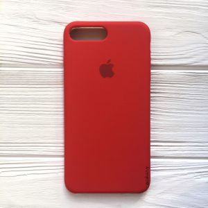 Оригинальный чехол Silicone Case с микрофиброй для Iphone 7 Plus / 8 Plus №5 (Red)