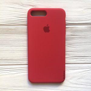 Оригинальный чехол Silicone Case с микрофиброй для Iphone 7 Plus / 8 Plus №40 (Rose)