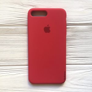 Оригинальный чехол Silicone Case с микрофиброй для Iphone 7 Plus / 8 Plus №40 (Rose)