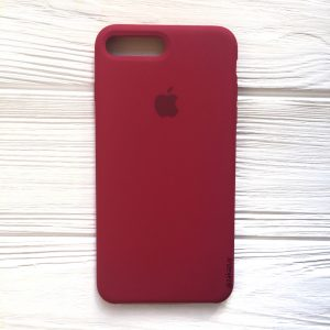 Оригинальный чехол Silicone Case с микрофиброй для Iphone 7 Plus / 8 Plus №4 (Rose Red)