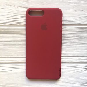 Оригинальный чехол Silicone Case с микрофиброй для Iphone 7 Plus / 8 Plus №24 (Rouge)