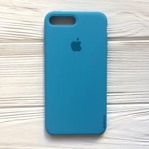 Оригинальный чехол Silicone Case с микрофиброй для Iphone 7 Plus / 8 Plus №20 (Royal Blue)