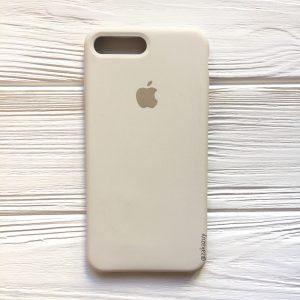 Оригинальный чехол Silicone Case с микрофиброй для Iphone 7 Plus / 8 Plus №17 (Stone)