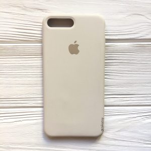 Оригинальный чехол Silicone Case с микрофиброй для Iphone 7 Plus / 8 Plus №17 (Stone)