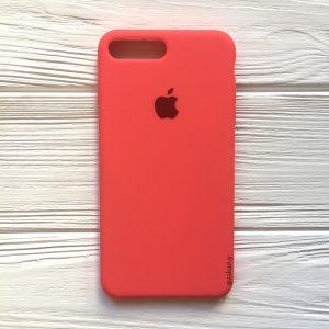 Оригинальный чехол Silicone Case с микрофиброй для Iphone 7 Plus / 8 Plus №31 (Ultra Coral)