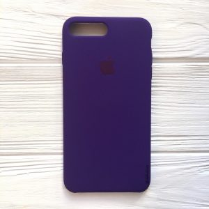 Оригинальный чехол Silicone Case с микрофиброй для Iphone 7 Plus / 8 Plus №2 (Ultra Violet)