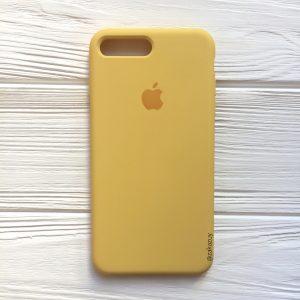 Оригинальный чехол Silicone Case с микрофиброй для Iphone 7 Plus / 8 Plus №13 (Yellow)