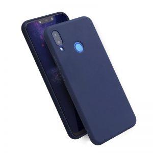 Матовый силиконовый TPU чехол на Huawei Honor Play (Синий)
