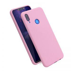 Матовый силиконовый TPU чехол на Huawei Honor Play (Розовый)