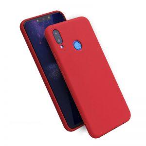 Матовый силиконовый TPU чехол на Huawei Honor 8x (Red)