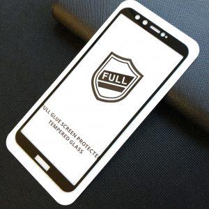 Защитное стекло 3D (5D) Perfect Glass Full Glue на весь экран для Huawei Honor 9 Lite — Black
