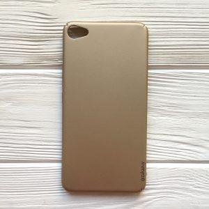 Золотой пластиковый чехол (накладка) Joyroom с защитой торцов для Meizu U20 (Gold)