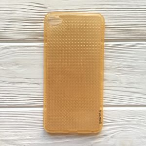 Прозрачный силиконовый (TPU) чехол с ажурной вставкой для Meizu U20 (Gold)