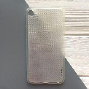 Прозрачный силиконовый (TPU) чехол с ажурной вставкой для Meizu U20 (Clear)