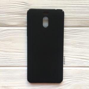 Черный матовый пластиковый чехол Joyroom с защитой торцов для Meizu M6 Note (Black)