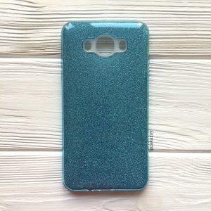 Голубой блестящий TPU+PC чехол  Shine для Samsung J710 Galaxy J7 (2016) Blue