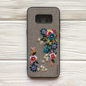Чехол – накладка с вышивкой и цветами TPU+PC Samsung G950 Galaxy S8