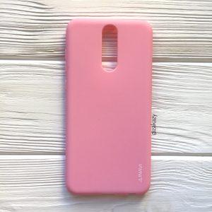 Матовый силиконовый TPU чехол на Huawei Mate 10 Lite (Розовый)