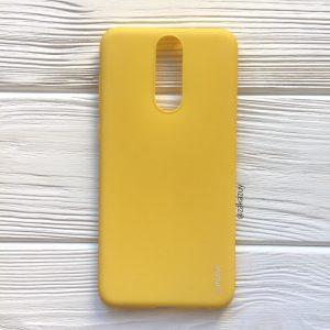 Матовый силиконовый TPU чехол на Huawei Mate 10 Lite (Желтый)