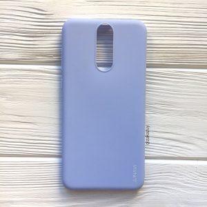 Матовый силиконовый TPU чехол на Huawei Mate 10 Lite (Светло-голубой)